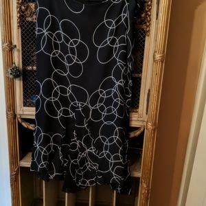 Black & white two piece dress